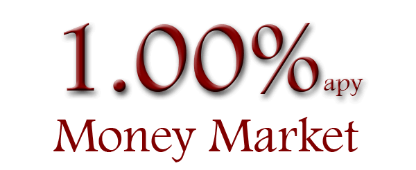 One percent annual percentage yield Money market, with twenty five thousand minimum required, date effective was May 23, 2018